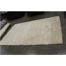 6 FOOT BY 9 FOOT URBAN BARN WHITE SHAG CARPET