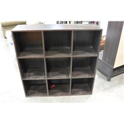 ESPRESSO FINISH CUBICLE SHELF