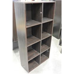8 CUBICLE ESPRESSO FINISH SHELF