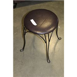 IRON BASE STOOL AND METAL CANDLE STAND