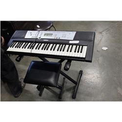 YAMAHA STAND STOOL AND KEYBOARD