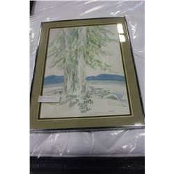 SIGNED AND NUMBERED PRINT OF TREES