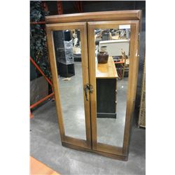 WALNUT MIRRORED DOOR WARDROBE