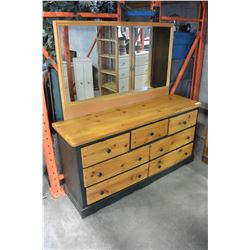 PAINTED PINE 7 DRAWER DRESSER