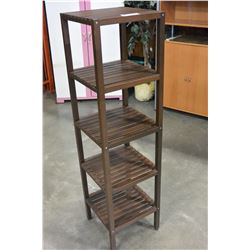 FIVE TIER WOODEN SHELF