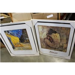 VAN GOGH AND PICASSO FRAMED PRINTS