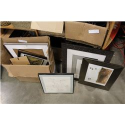 LOT OF QUALITY ESTATE PICTURES AND FRAMES