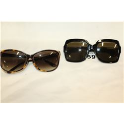 TWO PAIR OF LADIES GUCCI SUN GLASSES