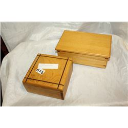 TWO INLAID WOODEN DRESSER BOXES