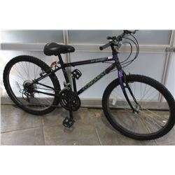 PURPLE BLACK CONQUEST BIKE