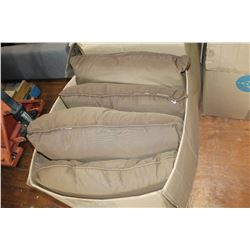 LARGE BOX OF BROWN PILLOWS