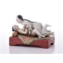 Chinese Porcelain of Erotic Couple,