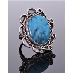 Native American Blue Turquoise Sterling Silver