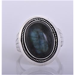 Native American Black Moonstone Sterling Silver