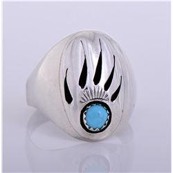 R, Navajo Sterling Silver Southwest Turquoise
