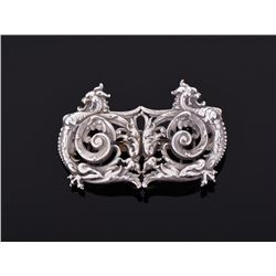 Victorian Sterling Silver Dragon Robe Clasp