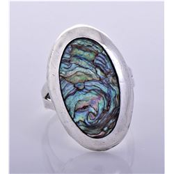 Vintage 1960s Taxco Abalone Shell and Sterling