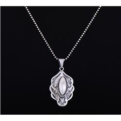 Sterling Silver Poison Pendant, Mexico.