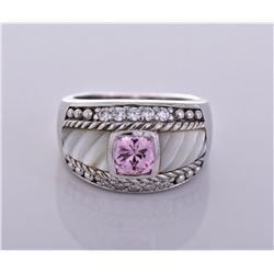 Judith Ripka Pink Diamonique Sterling Silver