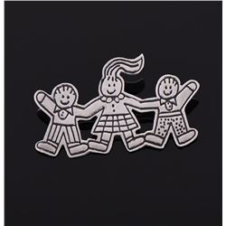 """Save The Children"" Sterling Silver Brooch"