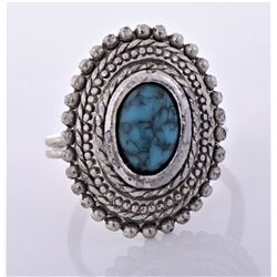 Turquoise Sterling Silver Ring. Silver Tested