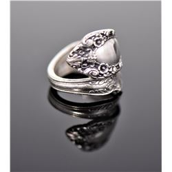 Prince Eugene Sterling Silver Spoon Ring,