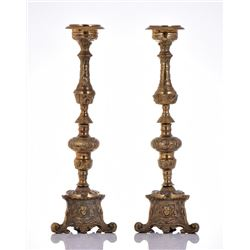 Two Large Vintage Victorian Style Candleholder