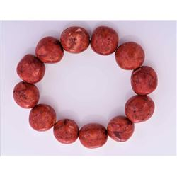 Red Coral Bracelet. Estimated less than 50 yr