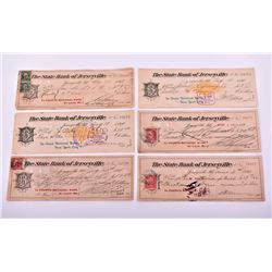 Six Antique United States of America Bank