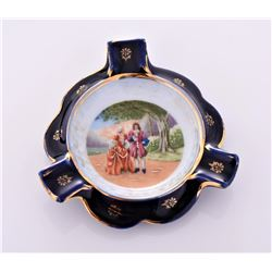 Limoges Hand Painted Porcelain ashtray, France