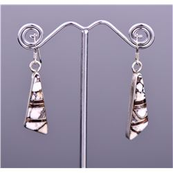 T. Wilson Sterling Silver Zuni Earrings.
