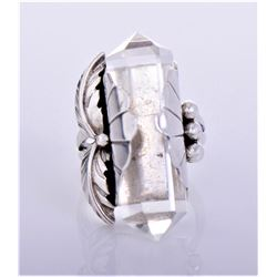Nakai, Navajo Sterling Silver Crystal Ring