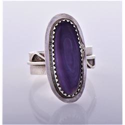 Charley, Purple Agate Sterling Silver Feather
