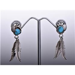 Navajo Southwest Blue Turquoise Sterling Silver