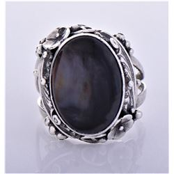 RG, Navajo Sterling Sliver Black Moonstone