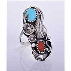 RS, HM SS Navajo Turquoise And Red Coral