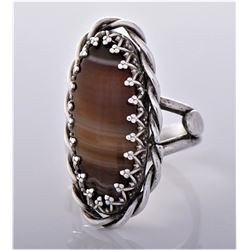 Native American Brown Agate Sterling Silver