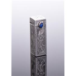 Native American 800 Silver Lipstick Holder
