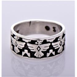 Native American Phoenix Sterling Silver Ring.