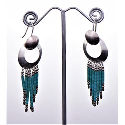 Native American Sterling Silver Dangling Bead