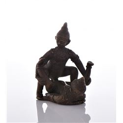 Antique India Erotic Bronze Figures. Estimate