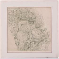Harold Altman ( 1924-2003) pencil signed. Mid