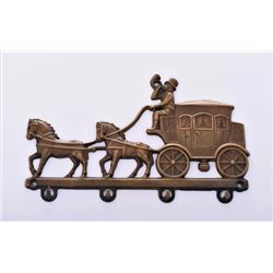 Vintage European Brass Horse Cart Carriage