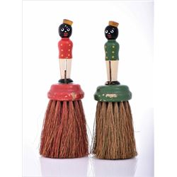 Vintage Black Americana Wood Table Brushes.