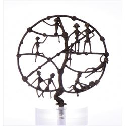 "Rare African Bronze ""Tree Of Life"" sculpture,"