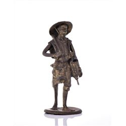 Vintage Bronze African Farmer. Estimated more