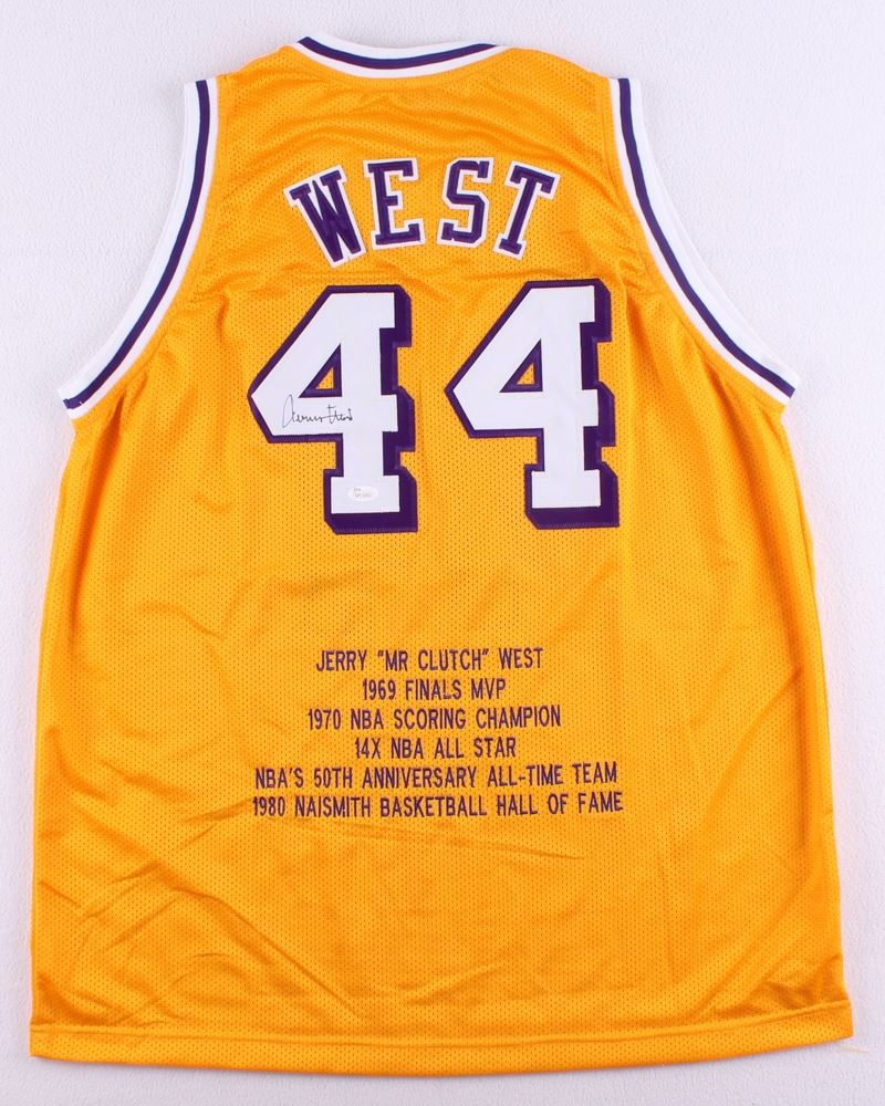 144ae5d85 Image 1   Jerry West Signed Lakers Career Highlight Stat Jersey (JSA COA)