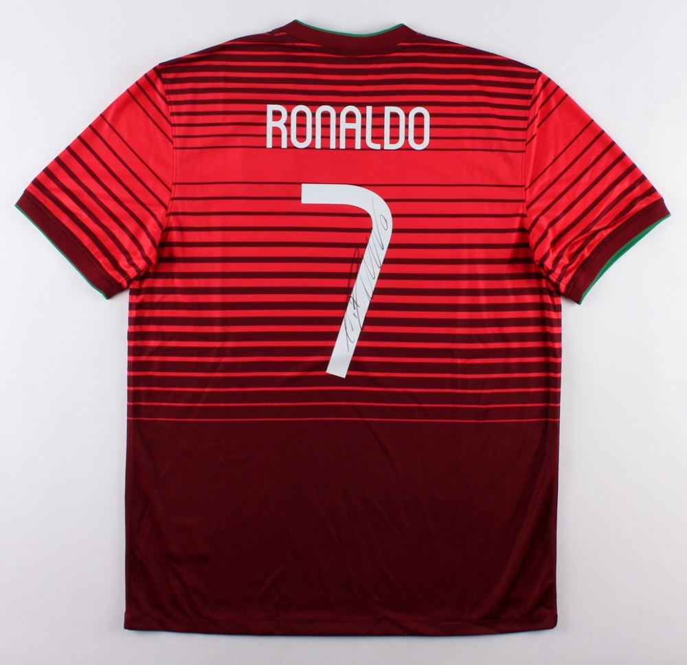 102db6856 Image 1   Cristiano Ronaldo Signed Team Portugal Authentic Nike Soccer  Jersey (Ronaldo COA)