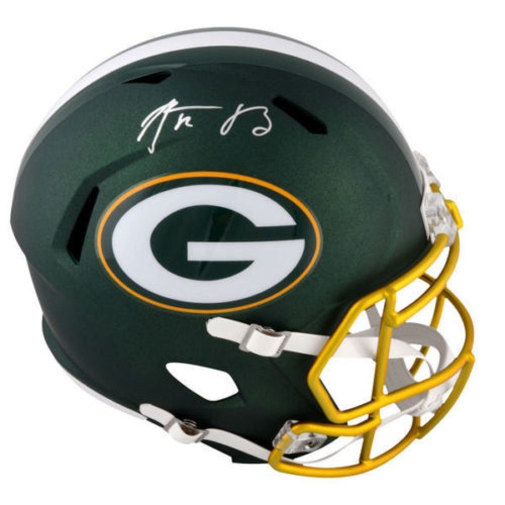 7bb8541d8 Image 1   Aaron Rodgers Signed Packers Full-Size Blaze Speed Helmet  (Steiner COA
