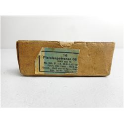 WWII DATE 1943 GERMAN 9MM AMMO